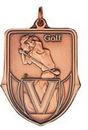 Custom 100 Series Stock Medal (Female Golfer) Gold, Silver, Bronze