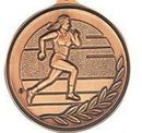 Custom 500 Series Stock Medal (Female Track & Field) Gold, Silver, Bronze