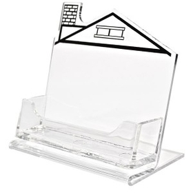 Horizontal Business Card Holder with Right Chimney House Imprint, Price/piece