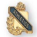 Custom Academic Scroll Award Pin (Athletics)