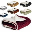 Deluxe Micro Mink Sherpa Blanket (Embroidery)