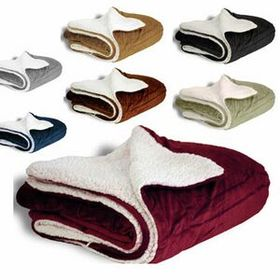 Deluxe Micro Mink Sherpa Blanket (Embroidery), Price/piece