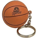Custom Basketball Stress Reliever Key Tag