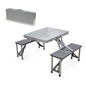 Aluminum Folding Picnic Table w/ Four Seats, Price/piece