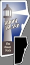 Custom Rhode Island Stock Mini Magnet (0.019