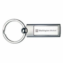 Custom 2 Tone Rounded Rectangle Metal Keyring (engraved)