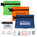 Custom Take-A-Long First Aid Kit #1 w/ Ibuprofen, Ointment & Polyester Pouch