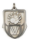 Custom 100 Series Stock Medal (Bowling) Gold, Silver, Bronze