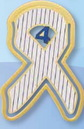 Lou Gehrig's Disease (ALS) Awareness Ribbon Bookmark