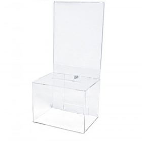"Clear Ballot Boxes with Riser (5""x7"" Insert), Price/piece"