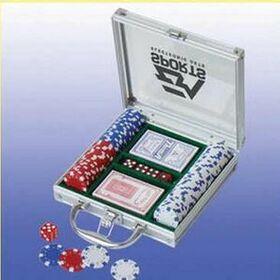 100 Piece Casino Style Poker Set (Screened), Price/piece