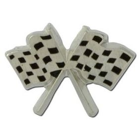 Checkered Flags Lapel Pin, Price/piece
