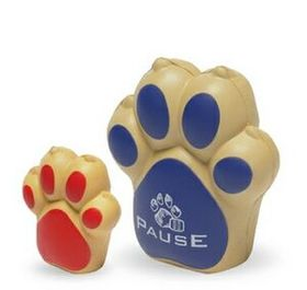 "Dog Paw Stress Reliever Toy, Pad Printed, 1 5/8"" W X 2 3/4"" D X 3"" H, Price/piece"