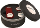 Custom Pitchfix&#174 Original Golf Divot Tool With Round Tin & Hat Clip