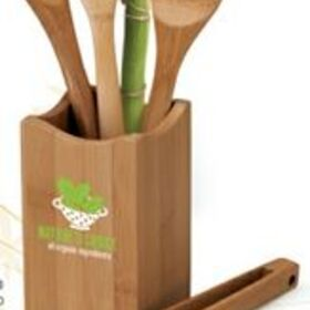 "Logomark 4 Piece Bamboo Kitchen Utensil Set, 3 3/8"" X 12"" X 3 3/8"", Price/piece"