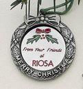 Custom MasterCast Design Merry Christmas Wreath Cast Ornament