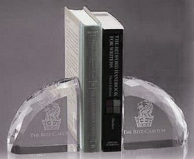 Publisher's Choice Faceted Book Ends - Optic Crystal, Price/piece