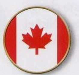 Canada Flag Stock Ball Markers, Price/piece