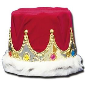 "Red & Gold Crown w/ Fur Edge (6"" High), Price/piece"