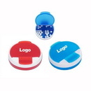 Custom 4 Compartments Round Pill Case Container Medical Travel Organizer Pill Box, 2 1/2