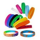 Custom Adult Size Debossed Silicone Bracelet, 8