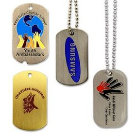 Etched Soft Enamel Dog Tag on Aluminum, Price/piece
