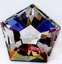 Custom Crystal Rainbow Faceted Star (1-3/4