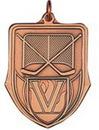 Custom 100 Series Stock Medal (Hockey) Gold, Silver, Bronze