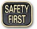 Custom Safety First Stock Pin