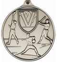 Custom 400 Series Stock Medal (Male Baseball Player) Gold, Silver, Bronze