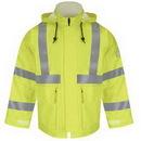 Custom Hi-Visibility Flame-Resistant Rain Jacket Hrc2