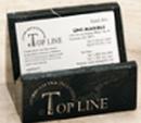 Custom Black Genuine Marble Executive Name Block & Card Holder (2