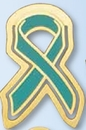Custom Ovarian Cancer Awareness Ribbon Bookmark