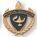 Blank Fully Modeled Epoxy Enameled Scholastic Award Pins (Physical Education), 7/8