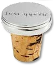 Custom Wine Bottle Cork w/ Flat 2 Dimensional Emblem