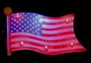 Custom Wavy American Flag Flash Lapel Pins