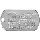 Custom Amcraft - Personalized Stainless Steel Military Dog Tag, 2
