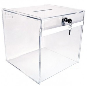 Small Clear Deluxe Ballot Box, Price/piece