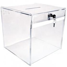 Small Clear Deluxe Ballot Box, Price/piece