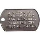 Custom Amcraft - Stainless Steel Military Dog Tags with Repeating Text, 2