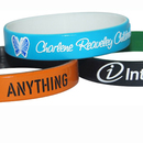 Custom Dual Layered Color Coat Silicone Wristbands, 8