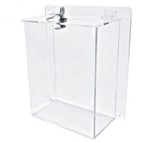 Custom Large Clear Ballot Box with Key Lock (8.5