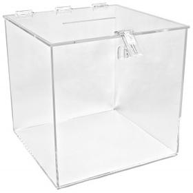 "Large Clear Economy Ballot Box - 12"", Price/piece"