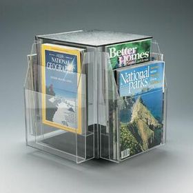 8-Pocket, 4-Sided Rotating Magazine Holder - Countertop, Price/piece