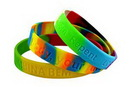 Custom Segmented or Multi-Colored Silicone Wristband (1/2