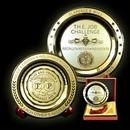 Custom Etched Brass Medallion Plates - 12
