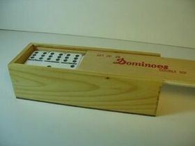 Double 6 Jumbo Domino In Wooden Case, Price/piece
