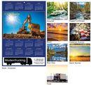 Custom Stock Art Year at a Glance Wall Calendar, 12