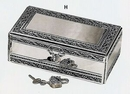 Custom Jewelry Box w/ Jeweled Lock
