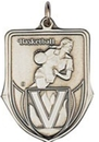 Custom 100 Series Stock Medal(Female Basketball Player) Gold, Silver, Bronze